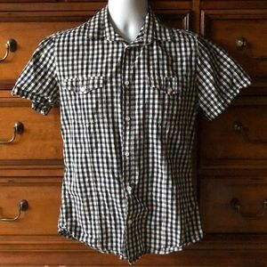 Men's H&M Short Sleeve Button Front Shirt Medium